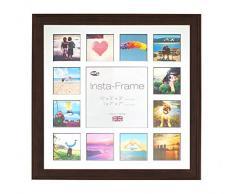 Inov8 16 x 40,64 cm Insta-Frame Austen marco para Instagram 13/de estampado a cuadros de fotos con paspartú blanco y negro con borde, 2 unidades, roble