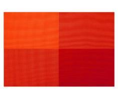 Contento Zarah - Mantel individual (4 unidades, 45 cm,vinilo, color y diseño a elegir entre cuadros o rayas)
