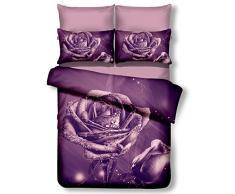 decoking Premium 00915 cama con 2 fundas de almohada, lila, 220 x 220 x 1 cm