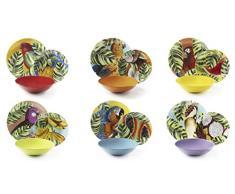Excelsa Havana - Vajilla de 18 piezas, porcelana y cerámica