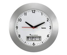 Hama RCW500, Plata, Mignon AA, 571 g, 10 mm - Reloj de pared
