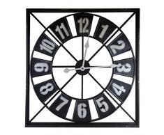 Better & Best 1402244 - Reloj de pared cuadrado, de cristal, con borde negro