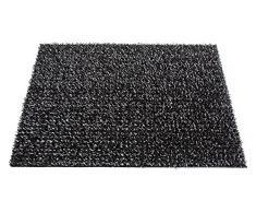 AstroTurf Classic Felpudo Alfombra de Entrada Exterior, 40 x 60 cm, Color Negro, Polietileno, 60x40x1 cm