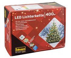 Idena LED Luz Cadena con temporizador, plástico, verde, 4500X 2X 2CM