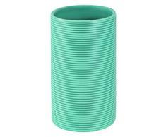 Spirella, Azul colección Tube Ribbed, Portacepillos de Dientes 10,5 cm, Gres, Ø6 X 10.5 Cm