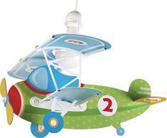 Dalber Baby Planes Lámpara Infantil de techo Avión, Verde, 50x64x40 cm