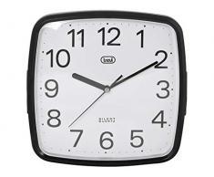 Trevi OM 3305 - Reloj de pared de diseño retro con maquinaria de cuarzo de funcionamiento silencioso, negro