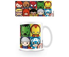 Marvel Kawaii personajes Taza de cerámica, multicolor