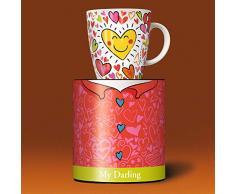 Ritzenhoff 1510124 - Taza de café con diseño de corazones, en caja de regalo