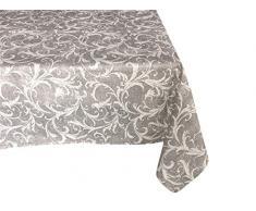 Textiles el Cid Túnez Mantel Resinado Antimanchas, Algodón-Poliéster, Gris, 35x35x1.70 cm