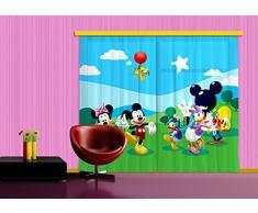 Diseño AG FCP XXL 6008 Disney Ropa de Cortina Cortinas Photo Print Mickey Mouse, 280 x 245 cm, 2 Parte