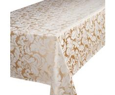 Home Creations Premier Cadiz - Mantel rectangular (132 x 228,6 cm), color dorado