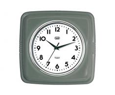 Trevi OM 3312 S - Reloj de pared de diseño retro años 60`s (24 x 24 x 5 cm), color gris