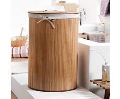 Compactor - Cesto Plegable para la Colada (bambú, polialgodón, Forma Redonda)