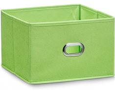 Zeller 14404 - Caja de almacenaje de tela, plegable, 24 x 23 x 16 cm, color verde