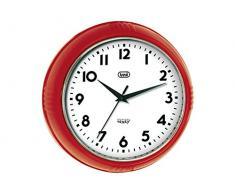 Trevi OM 3314 S - Reloj de pared de diseño retro años 60`s diámetro de24,5cm, color rojo