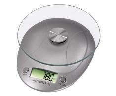 Xavax Milla - Báscula de cocina (LCD, Plata, 150 x 190 x 35,5 mm, 3,55 cm, CR2032)