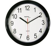 TechnoTrade WT-600, Negro - Reloj de pared