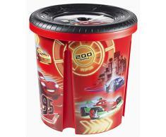 Curver 220585 - Caja para juguetes (polipropileno, 39,29 x 39,29 x 40,1 cm), diseño de Cars de Disney