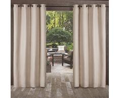 Home Exclusive Exclusiva casa Cortinas Delano Indoor/Outdoor Pesados con Textura Ojal metálico en la Parte Superior Ventana Cortina Panel par, Gris, 54 x 84