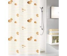 Kleine Wolke 5163216305 Miami - Cortina de ducha (180 x 200 cm), color beige