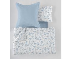 ES-Tela - Juego de Funda nórdica Estampada Paola (5 Piezas) - Color Azul - Cama de 150 cm. Incluye Funda(s) de cojín - 50% Algodón / 50% Poliéster - 144 Hilos