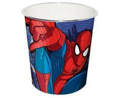 Kids Papelera Spiderman, Rojo, 20x20x22 cm