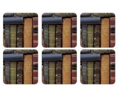 Pimpernel - Juego de 6 posavasos (10,5 x 10,5 cm, tablero de densidad media, con refuerzo de corcho)