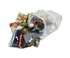 Creation Station - Cubo con juego de accesorios para manualidades y decoración de Navidad