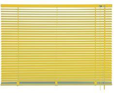 mydeco Cortina Veneciana Aluminio, Amarillo, Amarillo, 100 x 240 cm [Breite x Höhe]