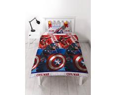 El Capitán América vs Iron Man Guerra Civil edredón