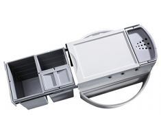 Hailo 3646131 basura Rondo 90,3/35 3646 13 Sistema con extensión completa para instalación de 90 x 90 cm armario de esquina, gris