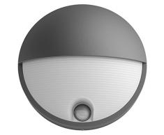 Philips myGarden Capricorn - Aplique con sensor de movimiento, iluminación exterior, 6 W, corriente alterna, LED, aluminio, diseño moderno, blanco cálido, color antracita