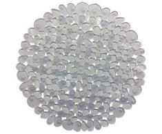 Spirella colección Riverstone, Alfombrilla de Ducha Round 57,PVC,Transparente, 57 cm