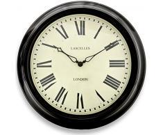 Roger Lascelles TS/STATION/BLK - Reloj de pared
