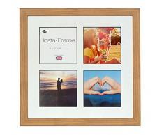 Inov8 16 x 40,64 cm Insta-Frame Marco para Instagram 4/de estampado a cuadros de fotos con paspartú blanco y negro con borde, madera de roble 313