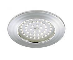 Briloner Leuchten luz LED empotrada, foco, intensidad regulable, baja profundidad de montaje, 3 cm, conexión directa 230 V, no necesita transformador, baño/baño apto IP44, chrom 10.5|watts