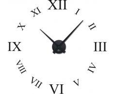 Graz Design - Adhesivo de pared con reloj, diseño con cifras romanas