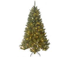 Negro de árboles 1002211-02 Delmonto árbol de Navidad Artificial con luces de color altura: 155 cm; Diámetro: 40 cm, 150 ledes de ramas 511 PVC, o de madera Weichnadel helado de encaje de color blanco cálido