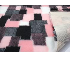 CRS Fur Fabrics Profesional Antideslizante Veterinaria Perro Cachorro Mascota Cama Patchwork-Rosa