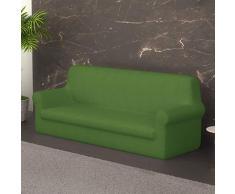PETTI Artigiani Italiani Verde, 4 Plazas, Funda de Sofa Elastica, 100% Made in Italy, Tela Lineal, (170Â a 280 cm)