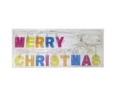 Idena 8582149 - Guirnalda led con texto Merry Christmas (funciona con pilas)