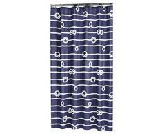 Sealskin Rope Cortina De Ducha, Poliéster, Azul, 180X200 Cm