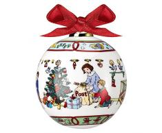 Hutschenreuther 27940 - Bola para árbol de navidad (porcelana), diseño con escena navideña