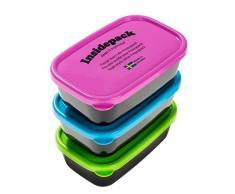Frozzypack Nordic mar caja de almacenaje, multicolor, 150 ml, 3 piezas
