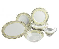 Falken porcelana 4260428120063 Bouquet, Beco Tirschenreuth porcelana, vajilla, 15 teilig