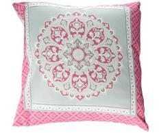 Dreams & Drapes Shantar Cojín adicional, color azul, poliéster, Rosa, 43x43 cm Filled Cushion