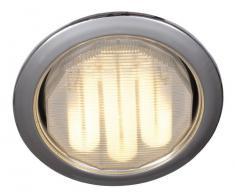 Naeve Leuchten 428642 - Lámpara de techo (bombilla de bajo consumo GX53, 7W, diámetro de 10,5cm, profundidad del foco de 3,5cm, metal), color cromo