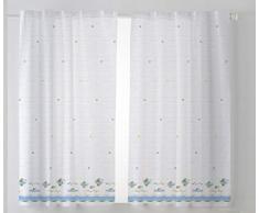 Cardenal Textil Tamara Cortina Cocina Visillo, Tela, Azul, Pack 2 100 x 140 cm