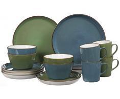 Ritzenhoff & Breker 277258 Servicio de mesa, Piedra, azul/verde